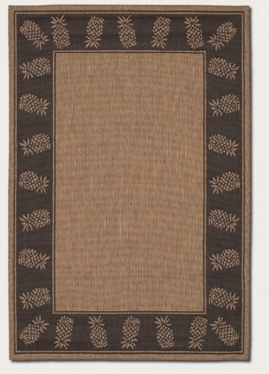 3'9&quot X 5'5&quot Area Rug By the side of Pinepple Design Boredr In Cocoa