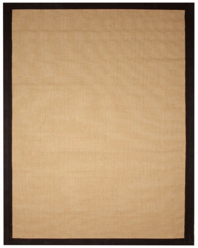 4' X 6' Area Rug Jute Boucle Eco-friendly Rug Wtih Black Border