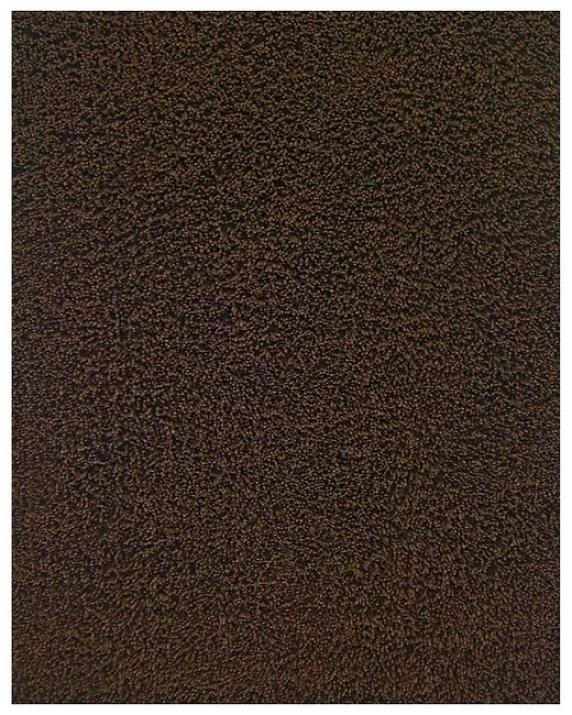 4' X 6' Brown Environmentally Friendly Bamboo Shag Area Rug