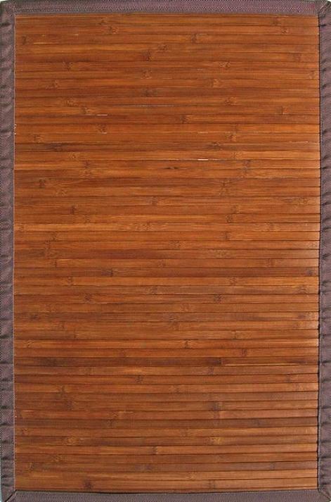4' X 6' Contemporary Chocolate Environmentally Favorable Bamboo Rug