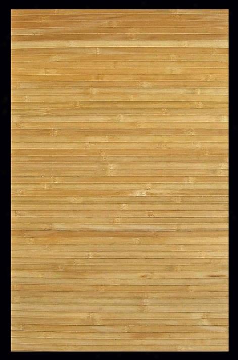 4' X 6'C ontemporary Natural Environmentally Friendly Bamboo Rug