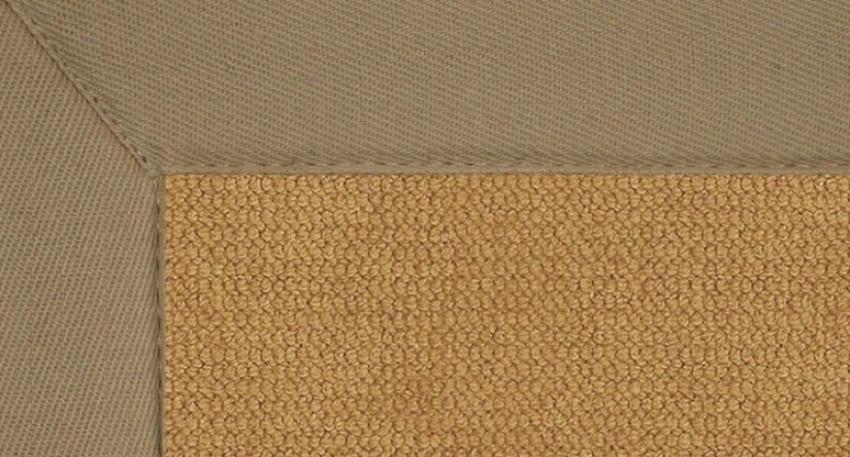 4' X 6' Cork Wool Rug - Athena Hand Tufted Rug Attending Beige Border