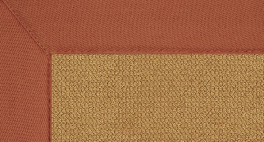 4' X 6' Cork Wool Rug - Athena Laborer Tufted Rug With Burnt Orange Border