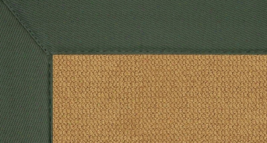 4' X 6' Cork Wool Rug - Athena Hand Tufted Rug With Green Borxer