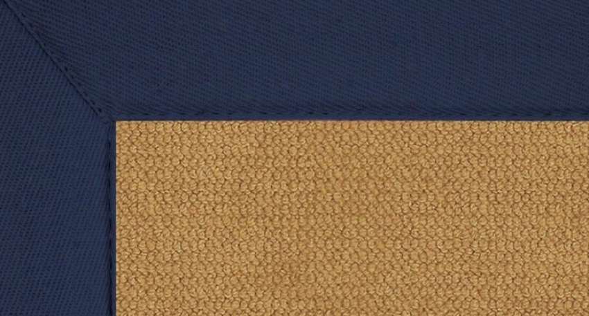 4' X 6' Cork Wool Ruy - Athena Lead Tufted Rug With Blue Border