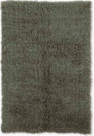 4' X 6' Flokati Area Rug - 100% Wlol Olive Color