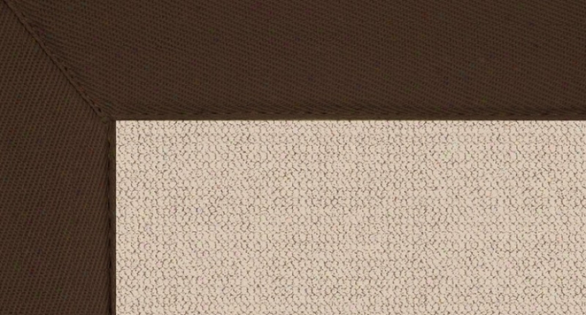 4' X 6' Natural Wool Rug - Athena Hand Tufted Rug With Brown Border
