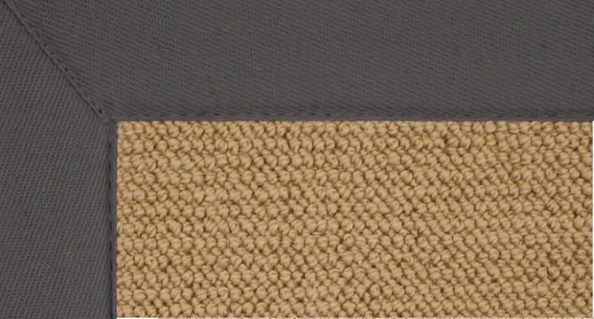 4' X 6' Sisal Wool Rug - Athena Hand Tufted Rug With Sllate Border