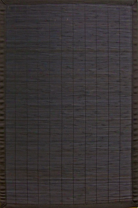 4' X 6' Villager Ebony Environmentally Friendly Bamboo Rug