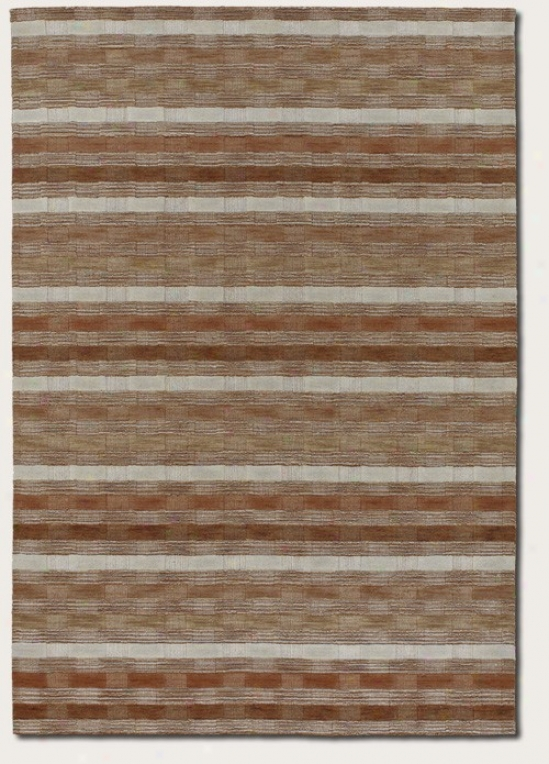 4'10&quot X 7'10&quot Areea Rug Striped Pattern In Brown And Grey
