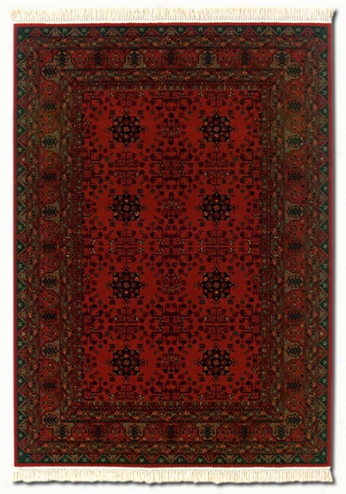 4'6&quot X 6'9&quot Kashimar Afghan Red Classic Persian Contrivance Area Rug