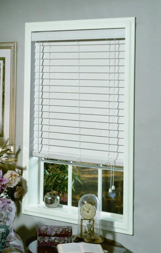 48&quotw Window Treatment Blind In White Faux Wood Desiyn