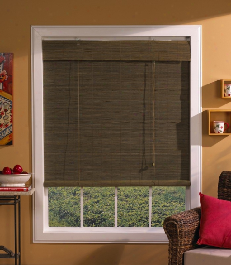 48&quotw Window Treatment Roll-up Blind Wifh Valance In Wi1low Matchstick Bamboo