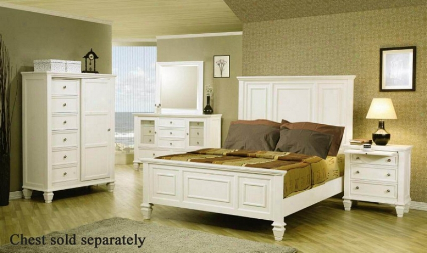 4pc Queen Size Bedroom Srt Cape Cod Style In Of a ~ color Finish
