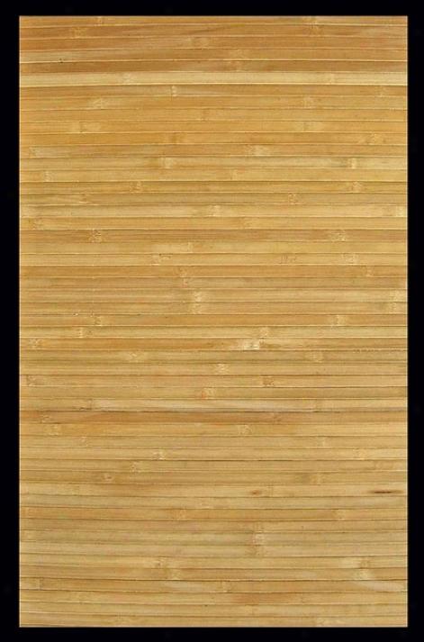 5' X 8' Contemporary Natural Environmentally Friendly Bamboo Rug
