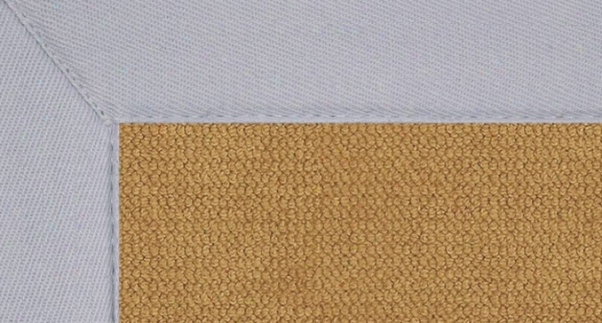5' X 8' Cork Wool Rug - Athena Hand Tufted Rug With Ice Blue Border