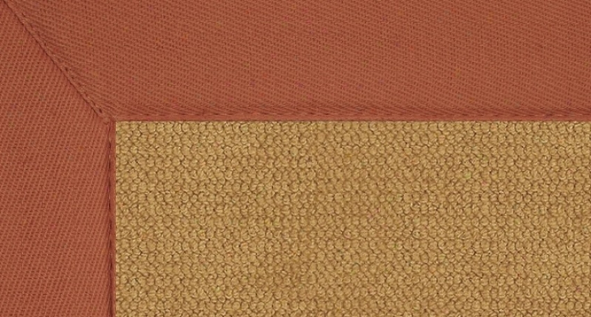 5' X 8' Cork Wool Rug - Athena Hand Tufted Rug With Burnt Orange Border
