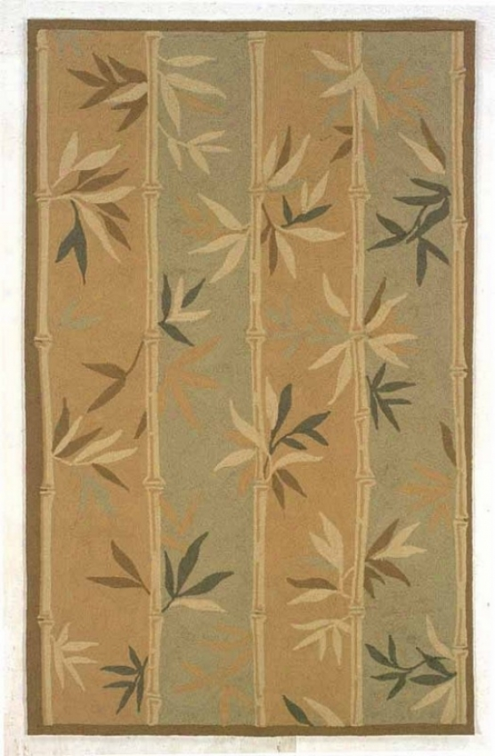 5' X 8' Indoor Outdoo rRug - Transitional Hand Hooked Rug In Sage And Brown Color