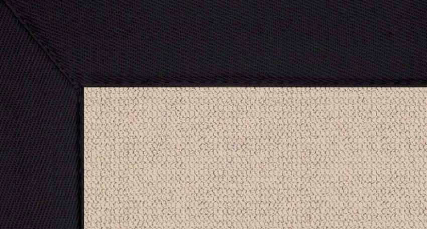5' X 8' Natural Wool Rug - Athena Hand Tufted Rug With Black Edge