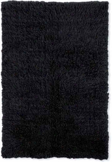 5' X 8' New Flokati Area Rug - 100% Wool Black Color