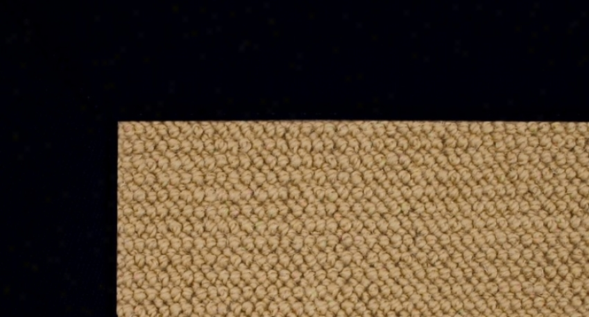 5' X 8' Sisal Wool Rug - Athena Hand Tufted Rug With Black Border