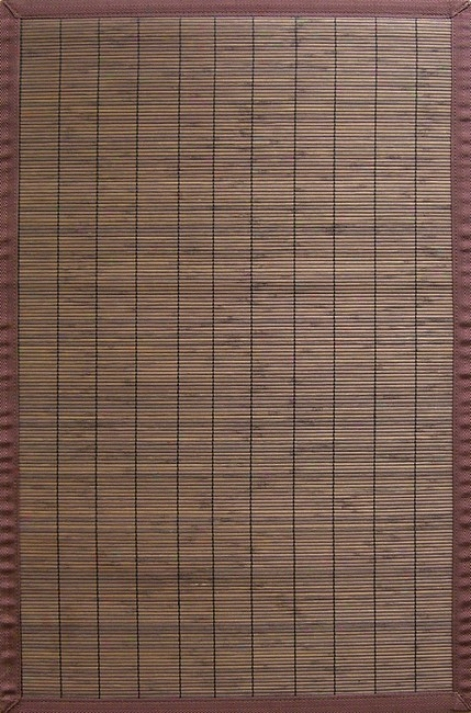 5' X 8' Vi1lager Coffee Environmentally Peaceable Bamboo Rug