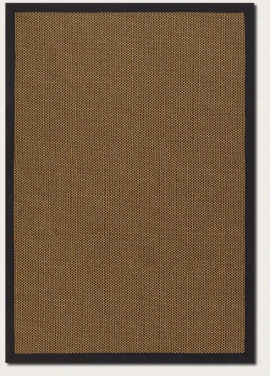 5'10&quot X 9'2&quot Area Rug Gold Color With Black Border