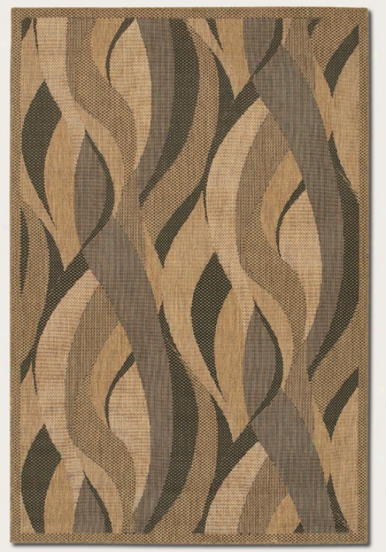 5'10&quot X 9'2&quot Region Rug Wave Design In Natural And Black
