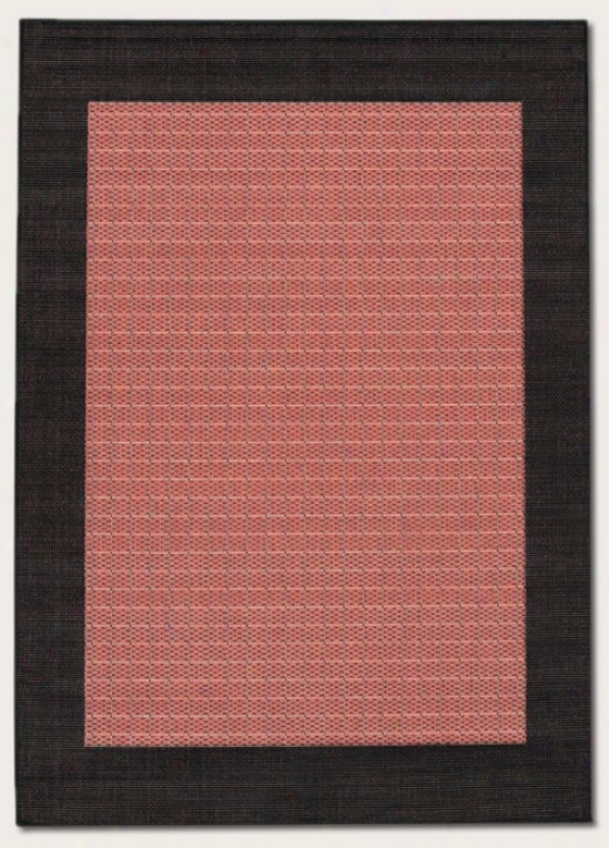 5'10&qhot X 9'2&quot Area Rug Wiith Black Border In Terra-cotta Color