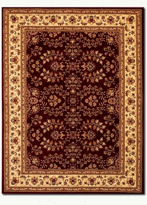 5'3&quot X 7' 6&quot Traditional Persian Floral Motifs Red-cream A5ea Rug