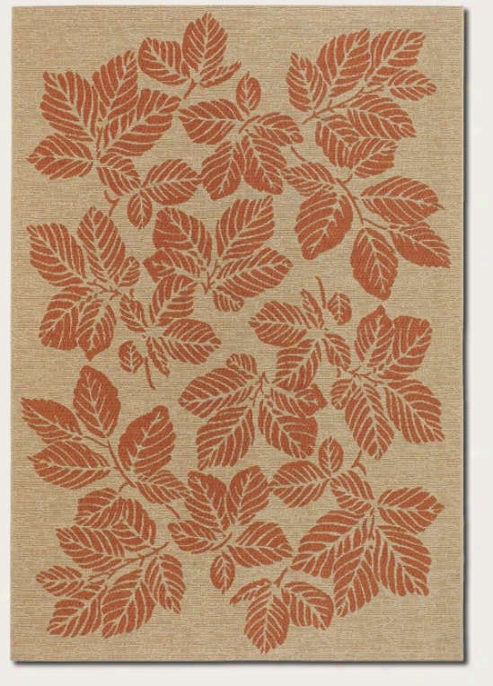 5'3&quot X 7'6&quot Yard Rug Autumn Leaf Pattern In Choice part And Orange