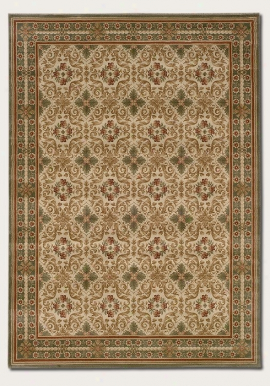 5'3&quot X 7'6&quot Area Rug Clsasic Persian Pattern In Sage Cplor