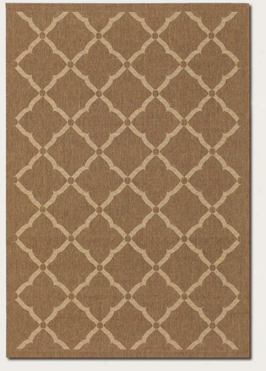 5'3&quot X 7'6&quot Adea Rug Floral Grid Pattern In Gold And Cream