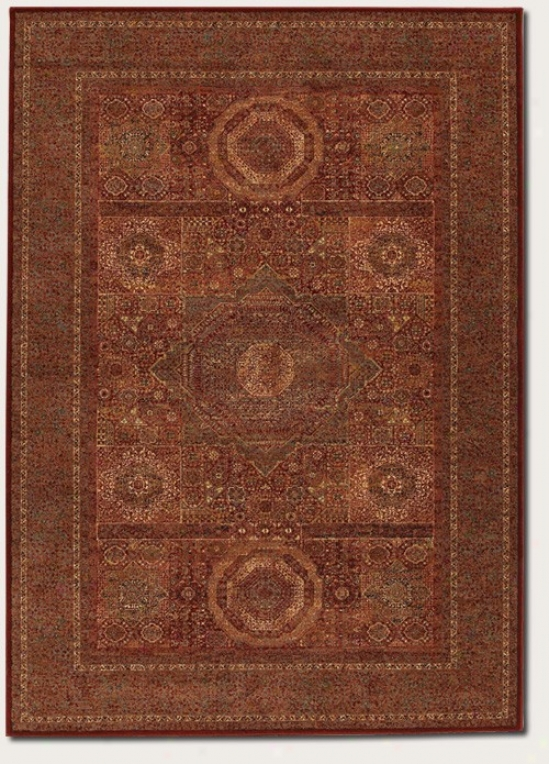 5'3&quot X 7'6&quot Area Rug Old World Classics In Burgundy
