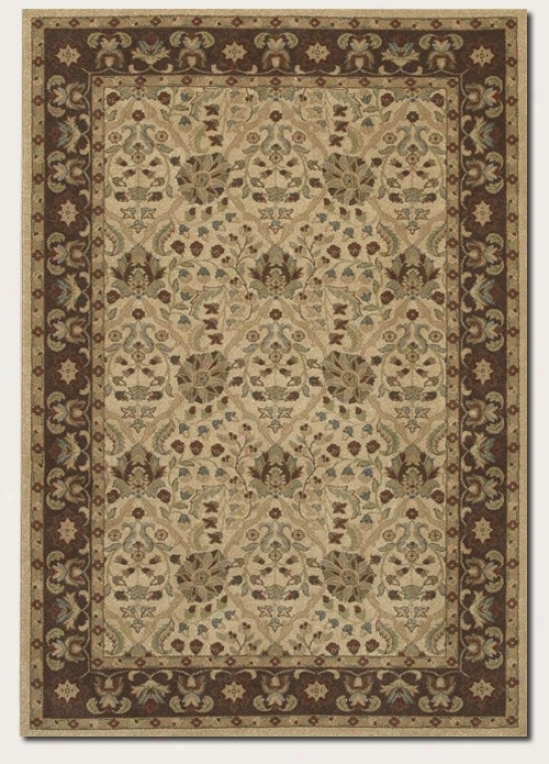 5'3&quot X 7'6&quot Area Rug Persian Pattern In Latte Color
