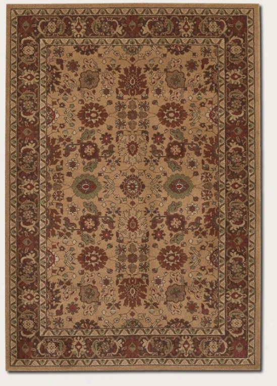 5'3&quot X 7'6&quot Area Rug Persian Pattern In Tan And Chocolate