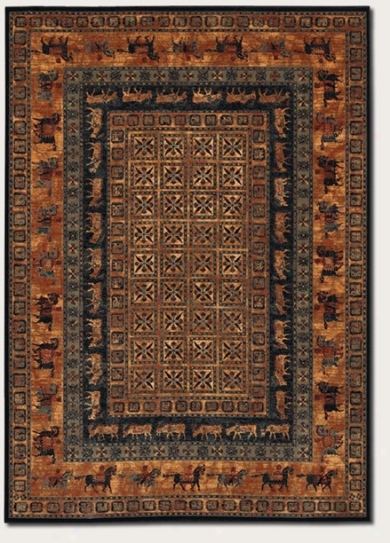 5'3&quot X 7'6&quot Area Rug Orally transmitted Style Animal Print In Rust