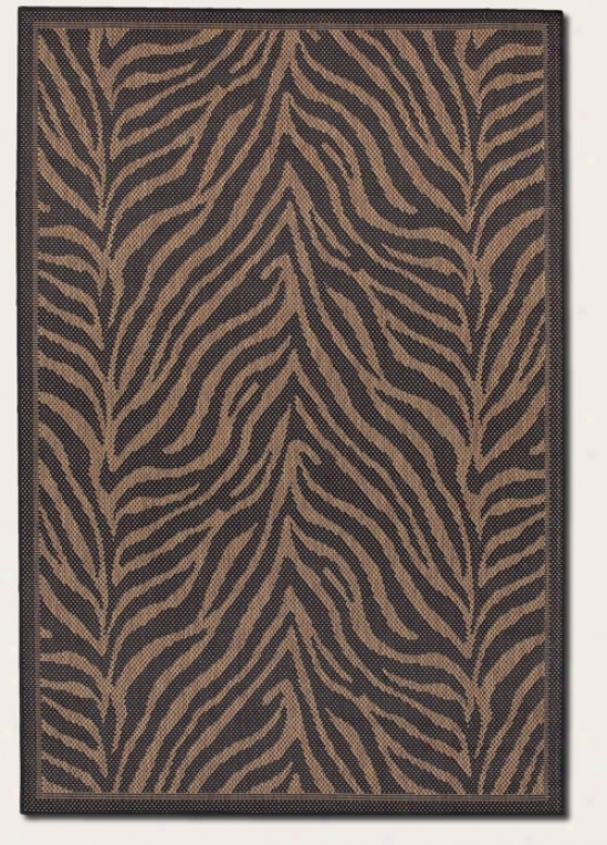 5'3&quot X 7'6&quot Area Ruf Zebra Pattern In Black And Cocoa