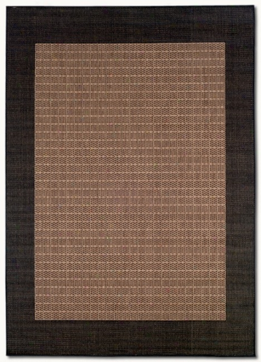 5'3&quot X 7'6&quot Checkered Field Cocoa Black Indoor/outdoor Area Rug