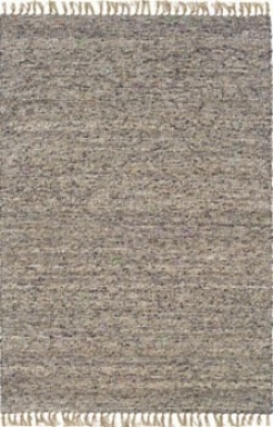 5'3&quot X 7'6&quot Hand Woven Area Rug Boucle Look In Dark And Natural
