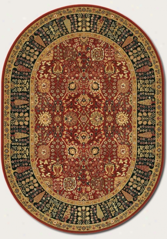 5'3&quot X 7'6&quot Oval Area Ruh Classic Persian Pattern In Persian Red