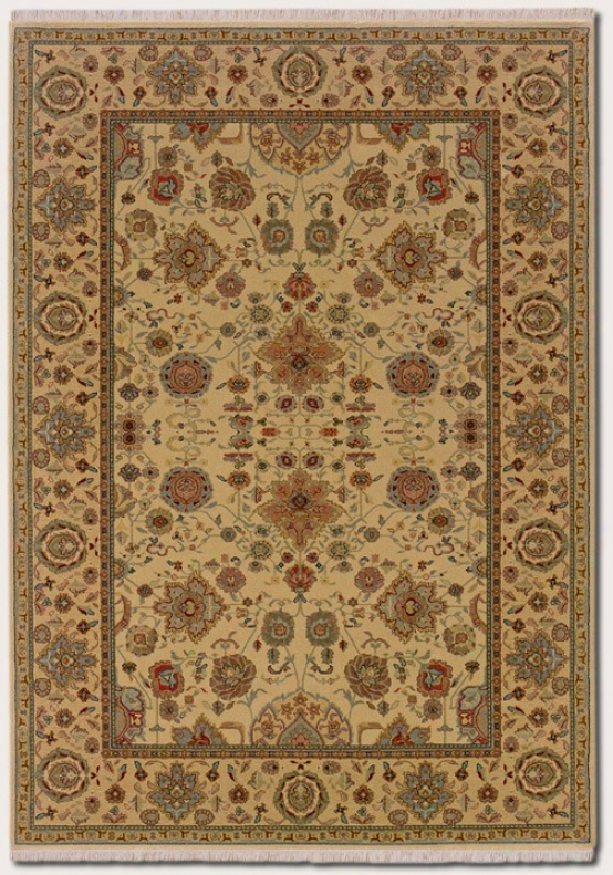 5'3&quot X 7'8&quot Area Rug Classic Persian Design In Autumn Wheat