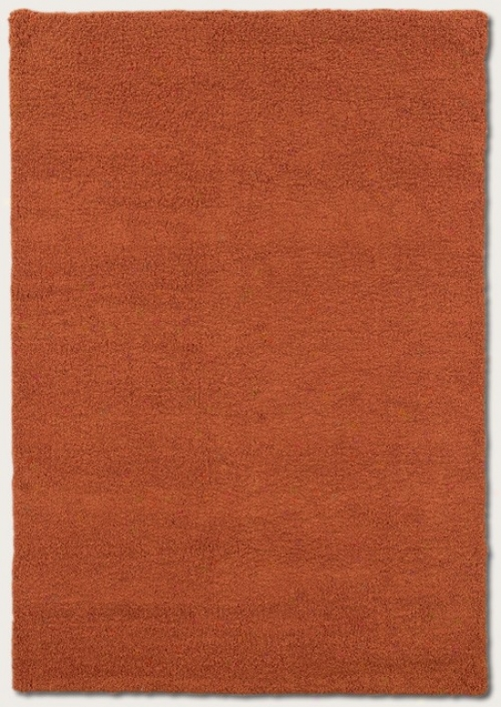 5'6&quot X 8' Area Rug Contemporary Denominate In Orange Blossom
