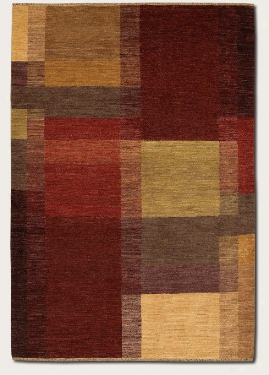 5'6&quot X 8' Area Rug Eco-friendly Contemporary Style In Red