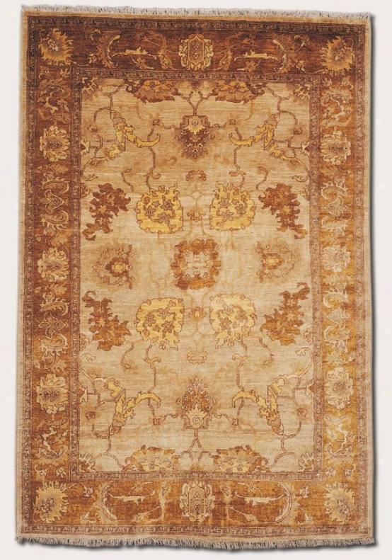 5'6&quot X 8' Area Rug Eco-friendly Vintage Pattern In Beige