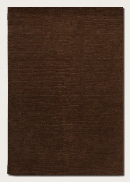 5'6&quot X 8' Area Rug Hand Crafted Contemporary Style In Chocolate
