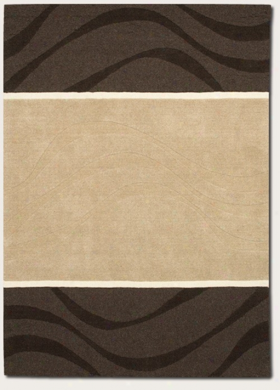 5'6&quot X 8' Area Rug Handmade Contemporary Style In Natural Grey