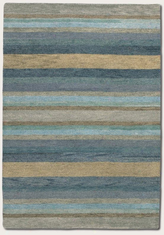 5'6&quot X 8' Area Rug Striped Pattern In Sky Blue Color