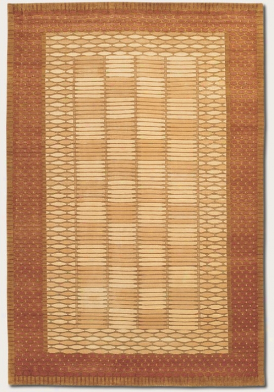 5'6&quot X 8' Area Rug With Border In Berber Ivory Color