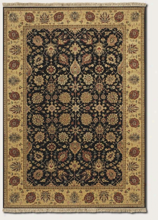 5'6&quot X 8'9&quot Area Rug First-rate work  Persian Pattern In Black